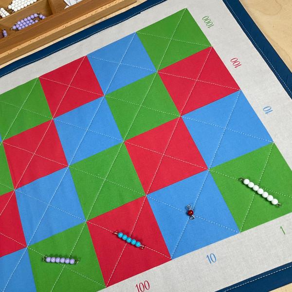 Multiplikationsteppich 2 mit Perlen