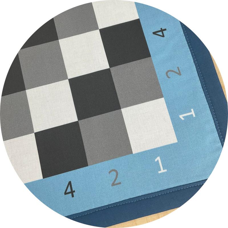 Binärmalteppich rund